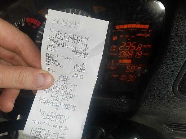 Perdido Key receipt