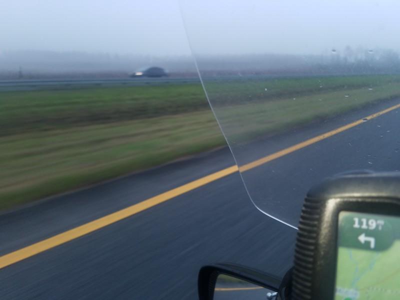 I-10 fog burning off