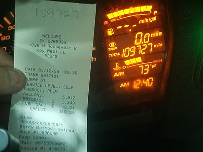 Key West receipt