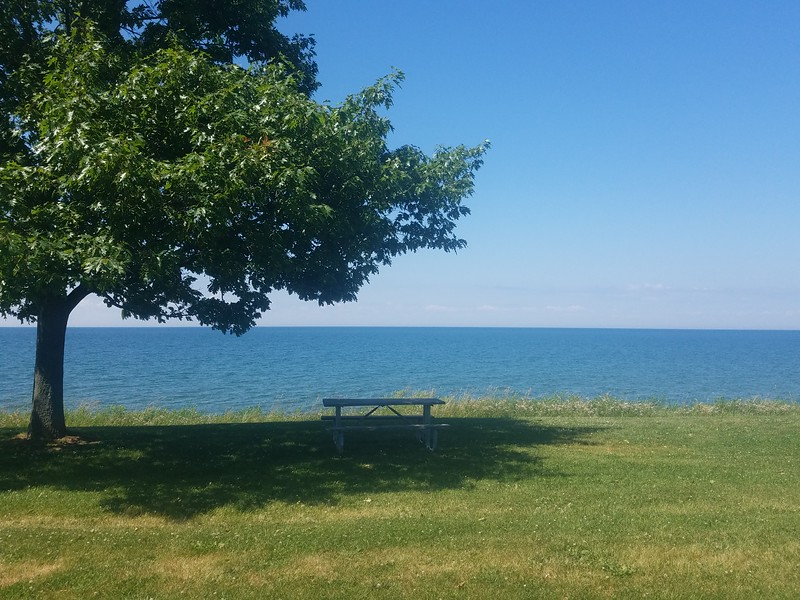 Lake Ontario from Golden Hill SP