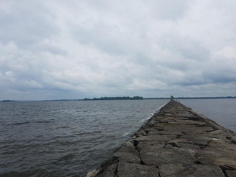Stony Point breakwater in Rouse's Point NY