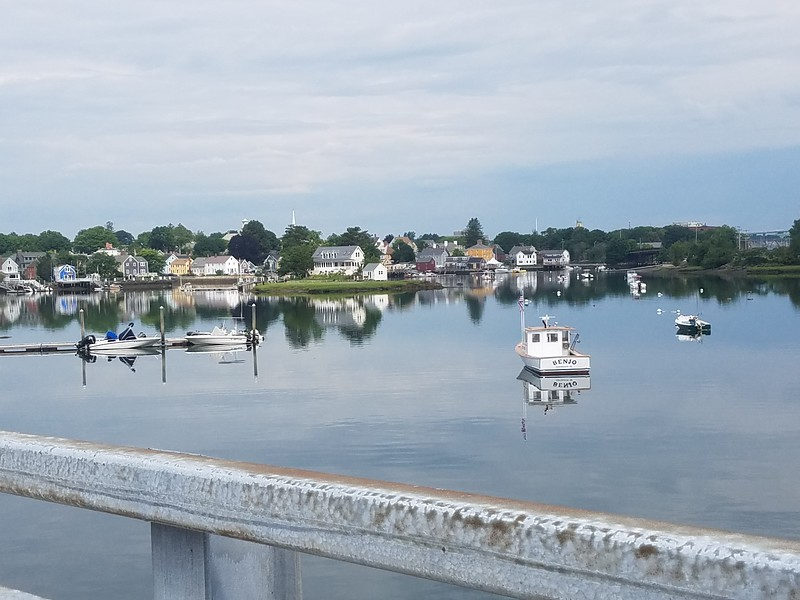 Portsmouth NH waterfront scene