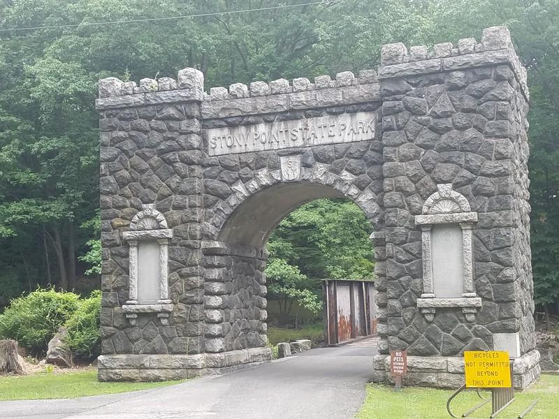 Stony Point Park entrance gate arch