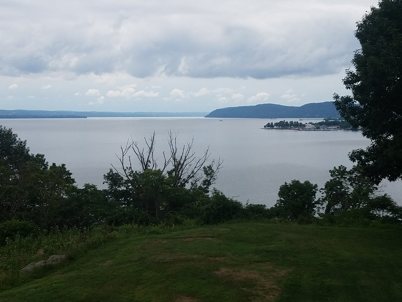 view of Hudson River from Stony Point Lighthouse