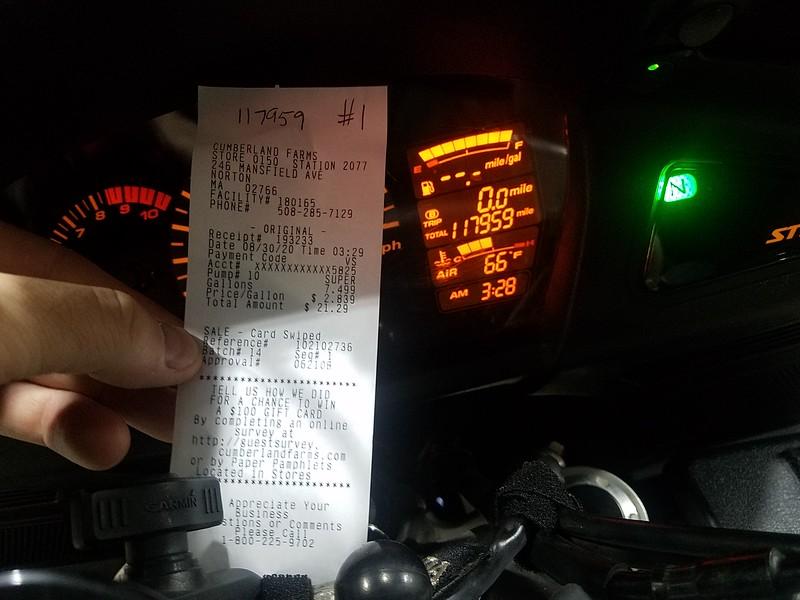 starting receipt