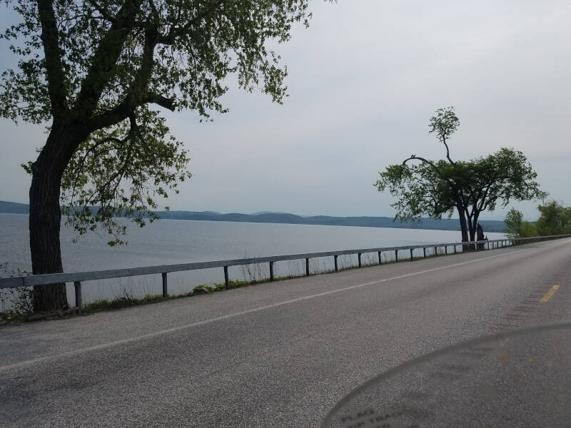Lake Champlain view from US 2