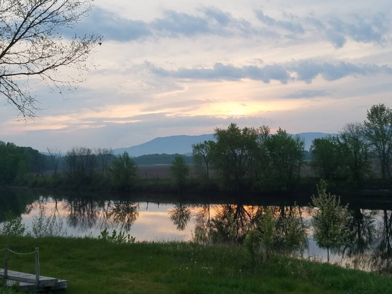 sunrise over the Whites and the Connecticut River