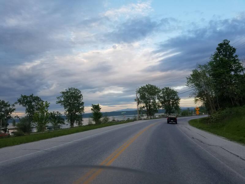 Lake Champlain magic purple clouds