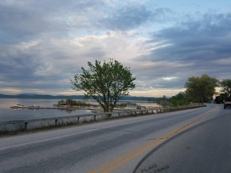 Lake Champlain pre-sunset