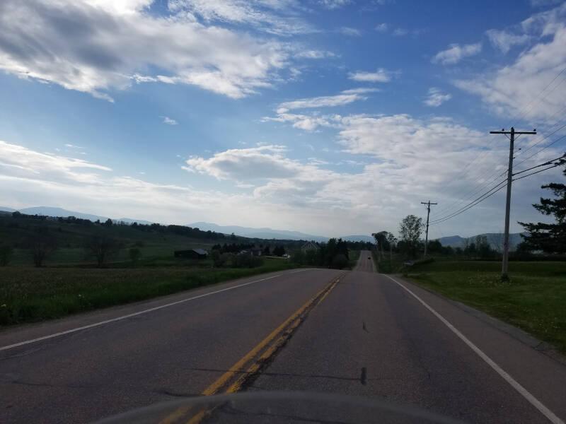 Vermont landscape on route 105