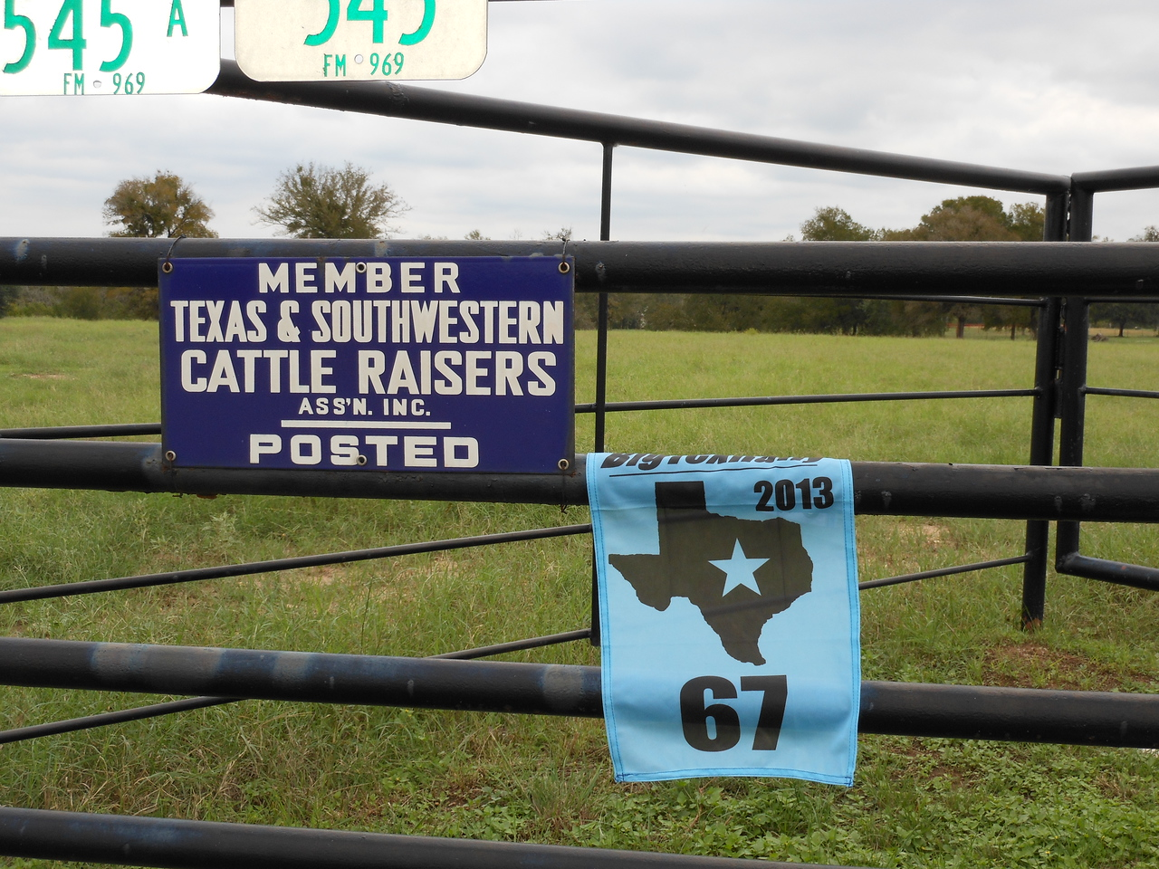 "Texas Icon - ""Cattle Raisers"" sign"