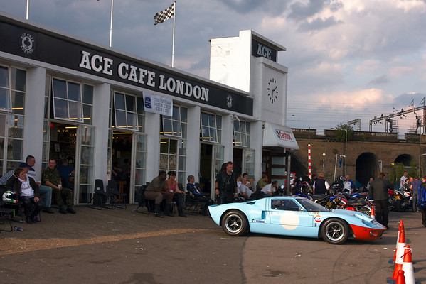 Ford GT40 at the Ace Cafe London