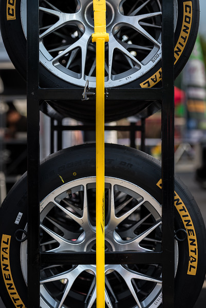 Racks of Continental Tires