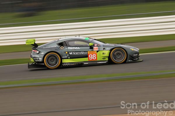 Aston Martin GTEpro heading into Village