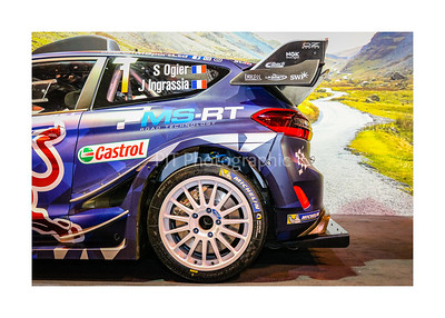 MSport Ford Fiesta RS WRC 18 Rear Side View