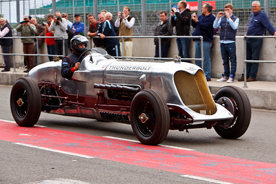 Thunderbolt, is an 850bhp, 27 litre, V12 Rolls Royce powered car based on the Bentley Speed Six chassis.  It holds 10 UK National speed records at Millbrook Proving Grounds, set in 2003.