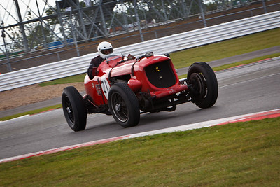 Chris Williams in his Napier Bentley, a one-off special built on the chassis of a 1929 8 litre Bentley. It has a 24 litre Napier Sea Lion W12 aero-engine, developing approximately 580bhp.