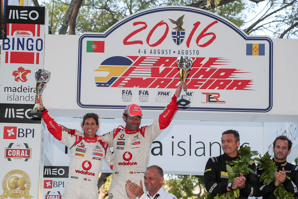 01 José Pedro FONTES Ines PONTES CITROEN DS3 R5  Podium during the 2016 Rali VINHO MADEIRA from August 4 to 6, at Funchal Madeira Portugal - Photo Jorge Cunha / AIFA