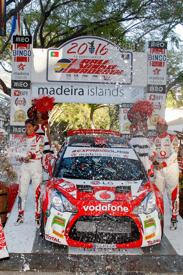01 José Pedro FONTES Ines PONTES CITROEN DS3 R5  Podium during the 2016 Rali VINHO MADEIRA from August 4 to 6, at Funchal Madeira Portugal - Photo José Nogueira / AIFA
