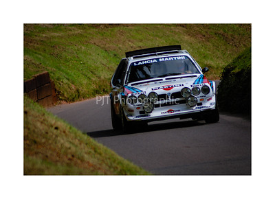 Lancia Delta S4 attacking the hill at Shelsley Walsh