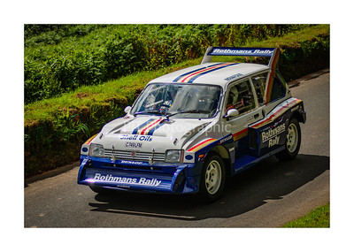 MG Metro 6R4 returning down the hill at Shelsley Walsh