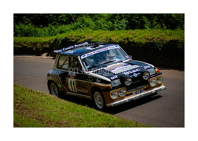 Renault 5 Maxi Turbo on the hill at Shelsley Walsh