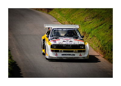 Audi Sport Quattro S1 returning from a run up the hill