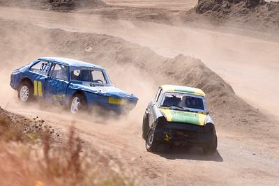 #355 Mattias Gullberg, Bromölla MK, Ford Anglia, #373 Kristian Odén, MK Ramunder