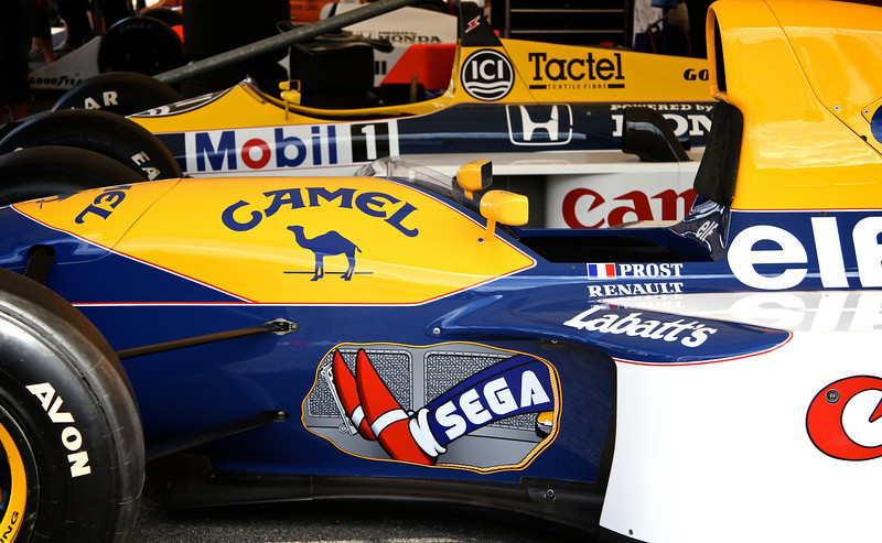 Williams-Honda FW11B (1987) and Williams-Renault FW15C (1993)