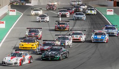 The start of the Dubai Hankook 24h race.