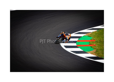Philip Oettl through Abbey on the KTM Moto 3 Bike