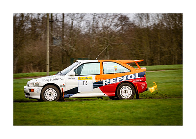 Ex Carlos Sainz Ford Excort RS Cosworth flaming rear exhaust