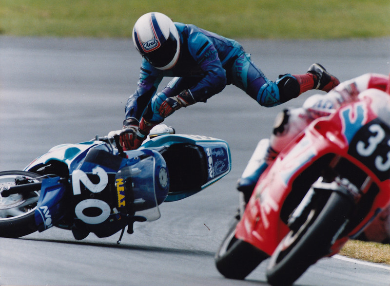Getting it wrong at Brands Hatch in 1993. National Supersport Championship