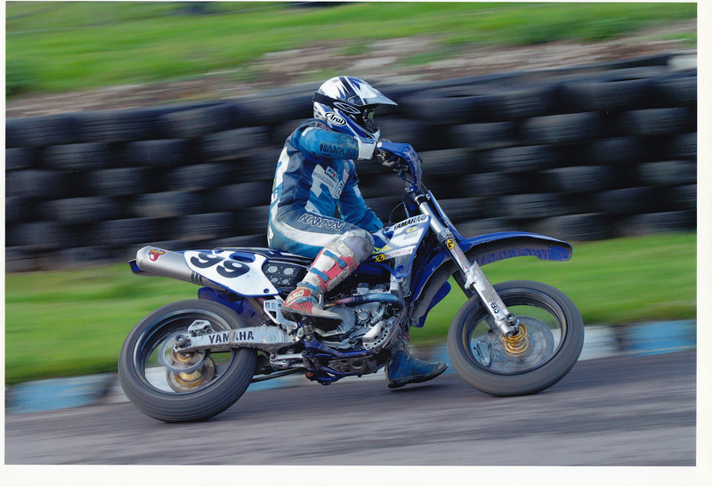 British Winter Supermoto Championship. Lydden Hill, 2003. Yamaha YZF426