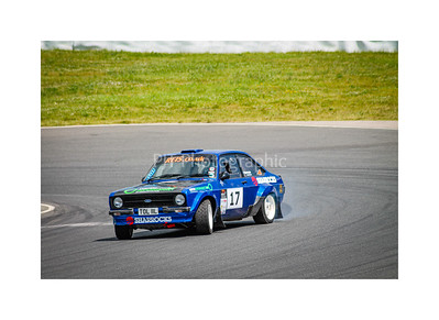 Drifting a Mk2 Ford Escort Rally Car