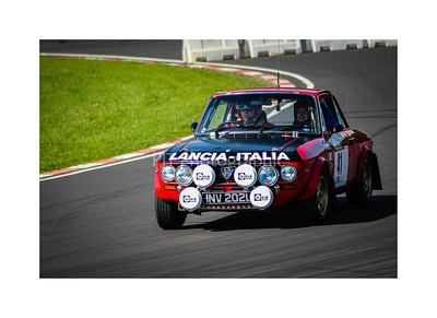 Lancia Fulvia HF on stage