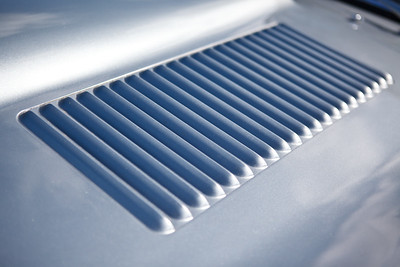 Jaguar E-Type louver detail
