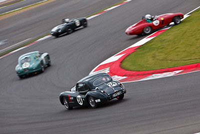Jaguar XK140 (24), Ferrari 750 Monza (12), Aston Martin DB2 Le Mans (121), Frazer Nash Targa Florino (53)