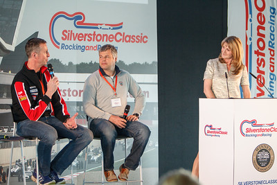 Tim Harvey & Matt Neal with Louise Goodman on stage