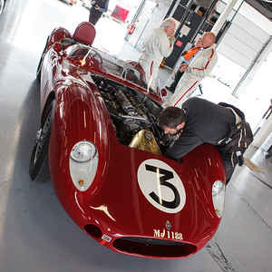 Maserati in the pit garages