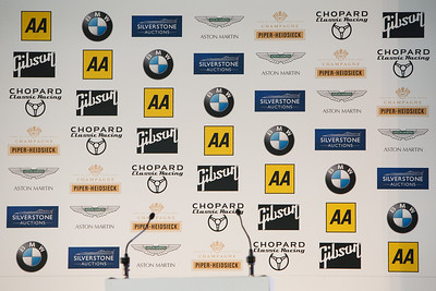Silverstone Classic, Powered by the AA - Sponsors include, BMW, Aston Martin, Piper-Heidsieck, Chopard, Gibson & Silverstone Auctions