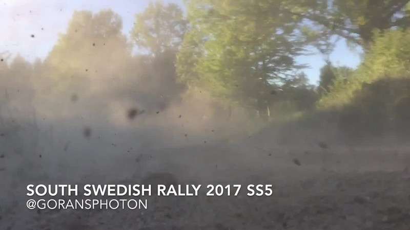 South Swedish Rally SS5 - 42 Anders Karlsson tappar höger bakhjul