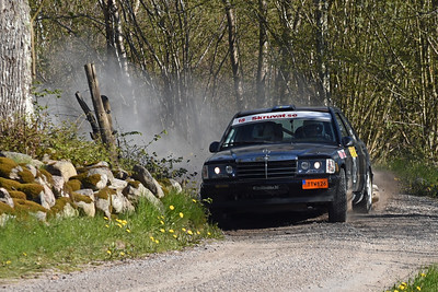 #18 - Tommy Johansson, Tjust MK - Mercedes 190E (punktering höger bakhjul)