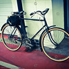 Backwards pedalling bicycle