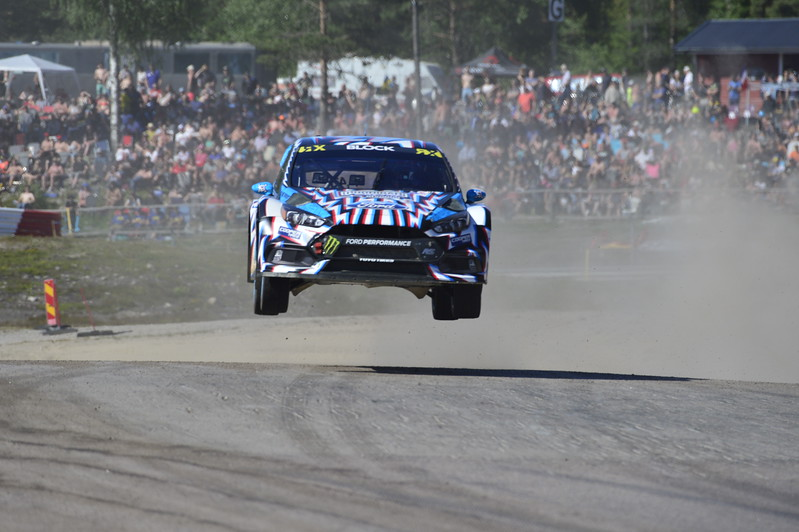 Ken Block at the jump