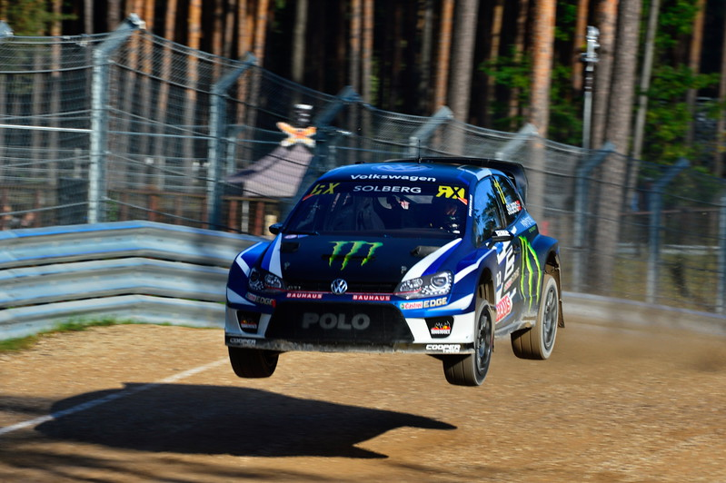 Petter Solberg at the jump