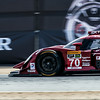 #70 Mazda SKYACTIV-D in Turn 4 at Mazda Raceway Laguna Seca