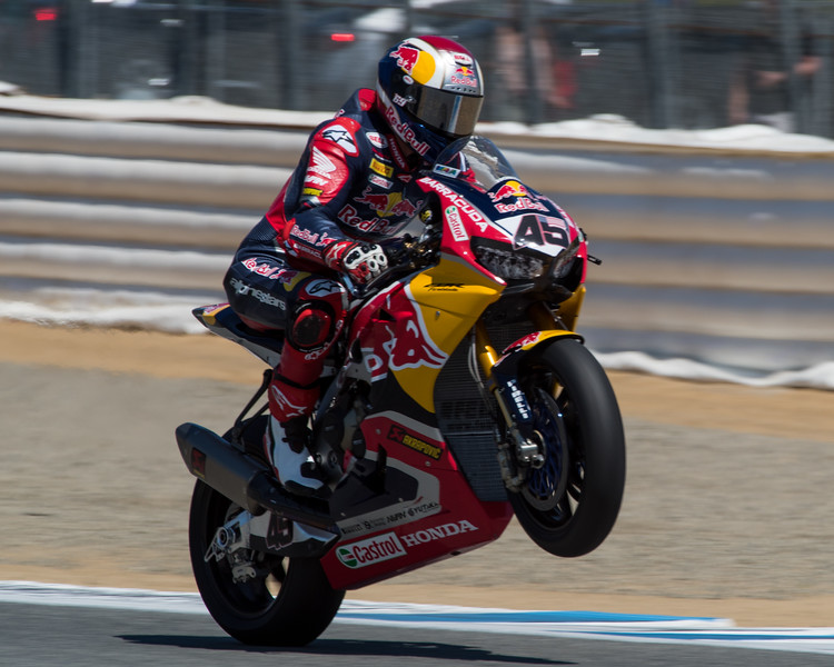 Jake Gagne on his guest WSBK ride at Laguna Seca in 2017