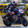 Michael van der Mark exiting Turn 3 at Laguna Seca.