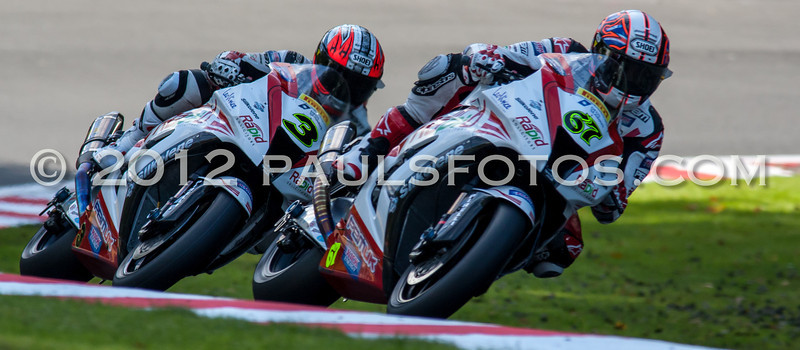Team mates #67 Shakey Byrne and #3 Stuart Easton on there way to the grid
